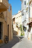 The narrow streets of Rethymno. — Stock Photo