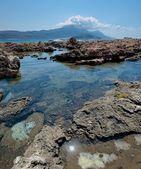 Rocky shore Panorama — Stock Photo