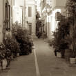 Shady streets of Rethymnon. — Stock Photo