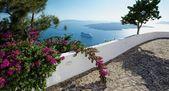 Walking around the island of Santorini — Stock Photo
