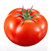 Tomato on white — Stockfoto