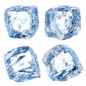 Cubes of ice on a white background. With clipping path — 图库照片