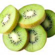 Kiwi. fruit slices isolated on white background — Stock Photo