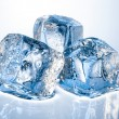 Three ice cubes — Foto de stock #34249155