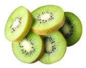Kiwi. fruit slices isolated on white background — Stock Photo