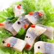 Herring fillet with herbs and spice — Stock Photo
