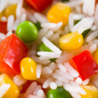 Stock Photo: Rice with vegetable. food background