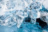 蓝色冰背景 — 图库照片