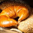Coissant, bread and buns — Stock Photo