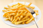 Potato fries in the plate — Stock Photo