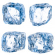 Cubes of ice on a white background. With clipping path — Stock Photo