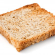 White bread slice. Toast Isolated. — Stock Photo