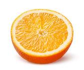 Tranche d'orange isolé sur fond blanc — Photo