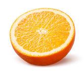 Orange. Half of fruit isolated on white background — 图库照片