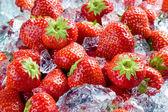 草莓加冰 — 图库照片