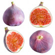 Figs collection. Fruits on white background — Stock Photo