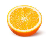 Orange. Half of fruit isolated on white background — ストック写真
