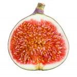 Figs. Ripe Fruit. Half on white background — Stock Photo