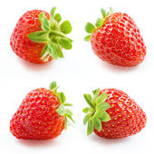 Strawberry. Collection isolated on white — Stock Photo