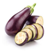Eggplant (aubergine) isolated on white — Foto Stock