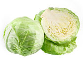 Cabbage and a half isolated — Stockfoto