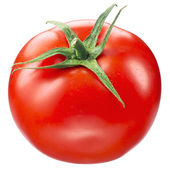 Tomato on white. with clipping path — Stock Photo