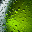 Water drops texture on the bottle of beer. Abstract background w — Stock Photo