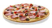 Italian pizza on white background — Stock Photo
