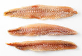 Anchovy. fillet isolated on white — Photo