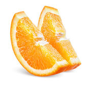 Orange slice. Fruit on white — Stock Photo