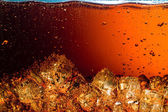 Cola with Ice. Food background — Stock Photo