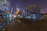 St. John`s cathedral at night, Wrocław, Poland, Ostrow Tumski — Stock Photo