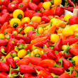 Lot of peppers - Stock Photo