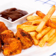 Chicken and french fries — Stock Photo #12466089