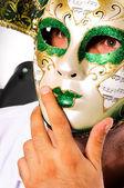 Masked portrait — Stock Photo