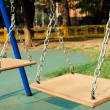 Wooden swing — Stock Photo