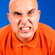 Angry bald guy — Stock Photo