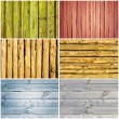 Wooden collage - Foto Stock