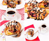 Frukost collage — Stockfoto