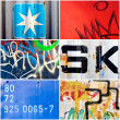 Paint collage - Stock Photo