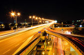 Highway lights — Stock Photo