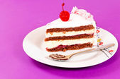 Purple cake — Stock Photo