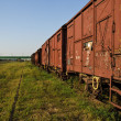 Stock Photo: Old wagons