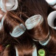 Curlers in the hair — Stock Photo #13368568