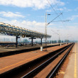 Stock Photo: Railroad station