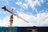 Buildings and crane — Stock Photo