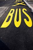 Yellow bus sign — Stock Photo
