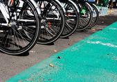 Public bicycles — Stock Photo