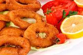Fried seafood — Stock Photo