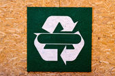 Recycle sign — Stock Photo